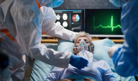 Инфицированный пациент в карантине лежит в больнице